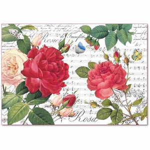 Rice paper - Red Roses & Music DFS397