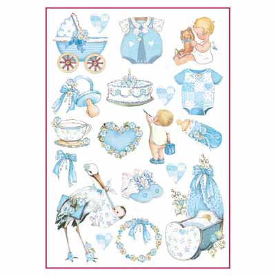 Rice Paper - Baby Boy decorations A4 DFSA4292
