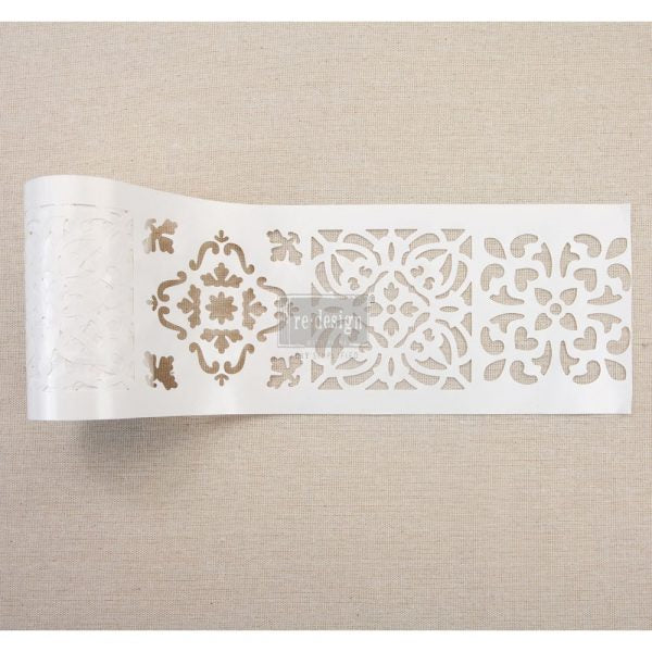 Redesign with Prima Stick & Style Stencils - Casa Blanca Tile