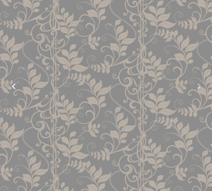 2 tone grey wisteria climber type pattern wallpaper