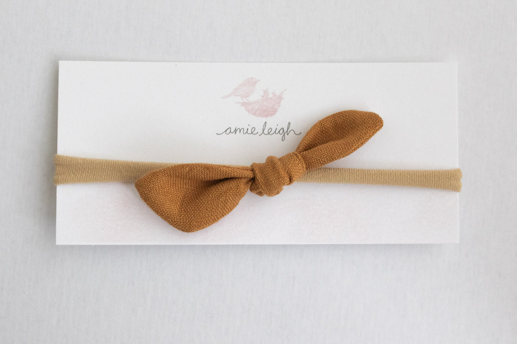 Hand-Tied Linen Bows - small