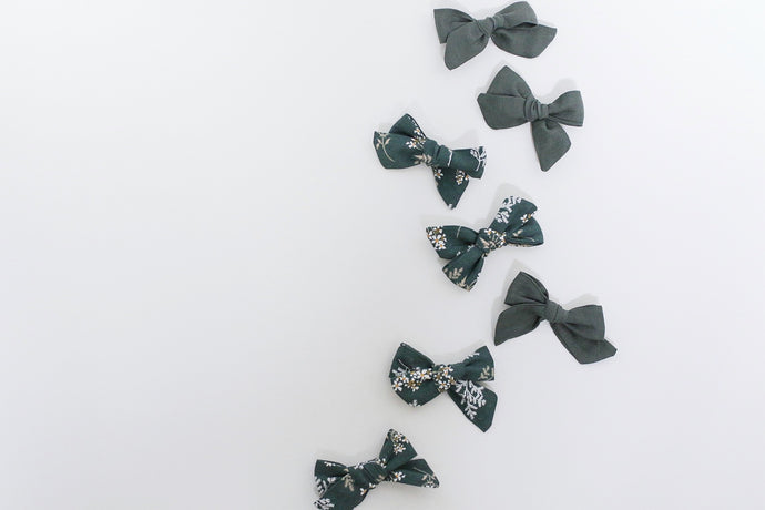 Hand-Tied Linen Bows - large
