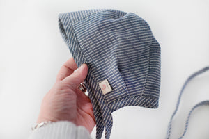 Made To Order - Linen Bonnet - warm flannel lining