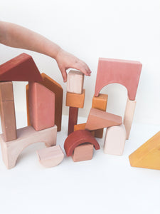 Handmade wooden blocks