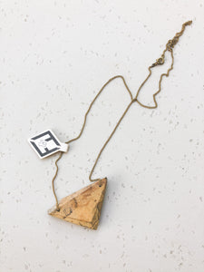 Spalted dogwood triangle necklace