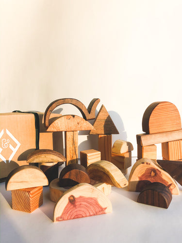 Organic mix wooden blocks