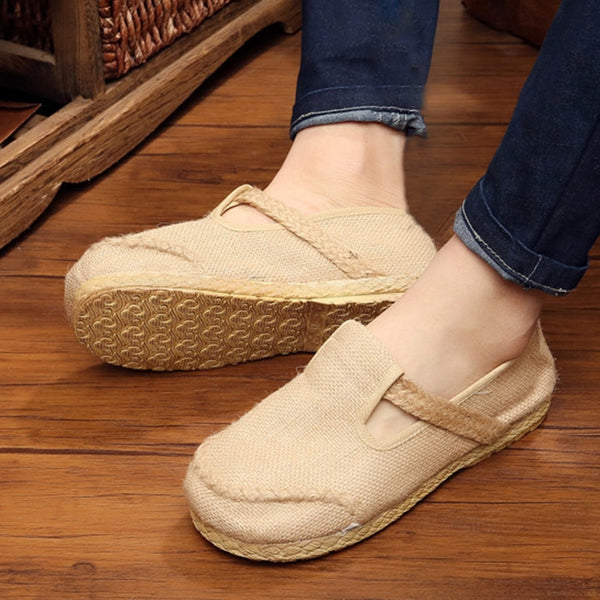 All Season Casual Canvas Flat Heel Shoes