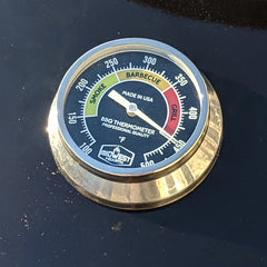 New Thermometer Sitting on Top of the OEM Bezel