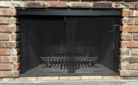 Fireplace Valance and Screen