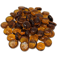 Load image into Gallery viewer, Amber Fire Pit Glass Beads 1/2-Inch (10-Pounds)