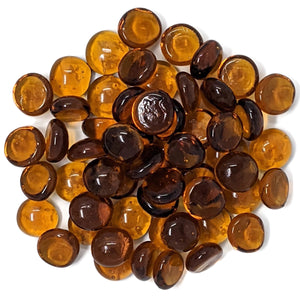 Amber Fire Pit Glass Beads 1/2-Inch (10-Pounds)