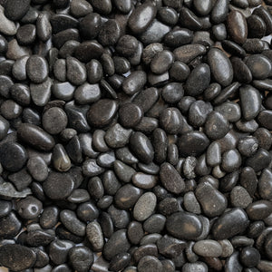 "Decorative Polished Black Pebbles 3/8"" Gravel Size (10-lb Bag)"