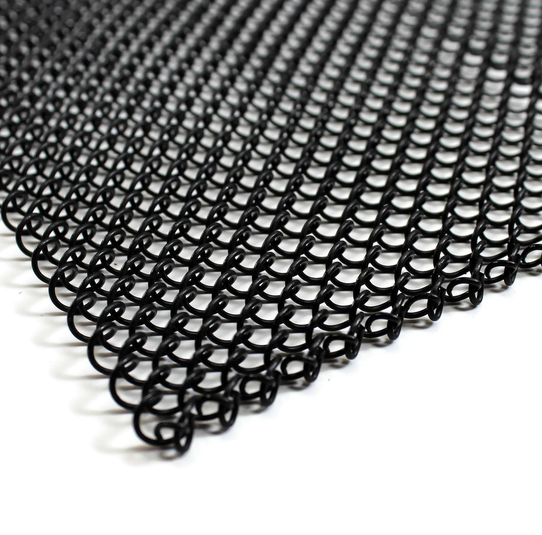 Fireplace Mesh Screen Curtain - Black