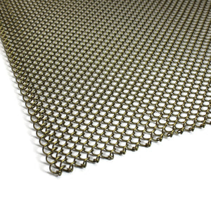 Fireplace Mesh Screen - Antique Brass