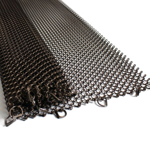 Fireplace Mesh Screen - Antique Bronze