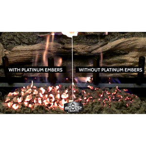 Platinum Embers for Gas Logs and Fireplaces (5 Grams)