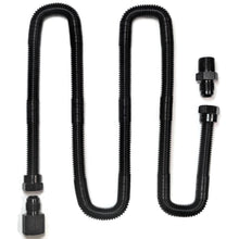 "Load image into Gallery viewer, Whistle Free Flex Line 3/8""ID, 1/2""OD, 1/2""NPT Fittings (Black 48"" Long)"