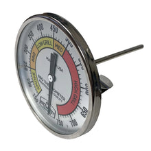 "Load image into Gallery viewer, Thermometer for Kamado Style Charcoal Grills - 3"" Dial"