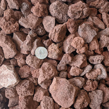 "Load image into Gallery viewer, Red Lava Rock for Fire Pits - (1/2"" to 2"" Average Size) 10-lb Bag"