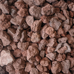 "Red Lava Rock for Fire Pits - (1/2"" to 2"" Average Size) 10-lb Bag"