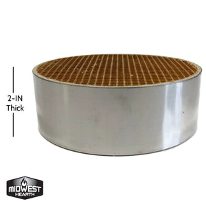"Catalytic Combustor Dutchwest Englander (6"" x 2"" Round)"
