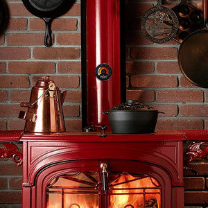 Wood Stove Thermometer - Magnetic Chimney Pipe Meter