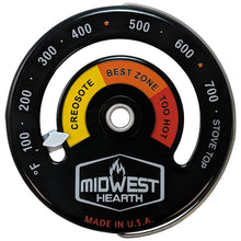 Load image into Gallery viewer, Wood Stove Thermometer - Magnetic Stove Top Meter