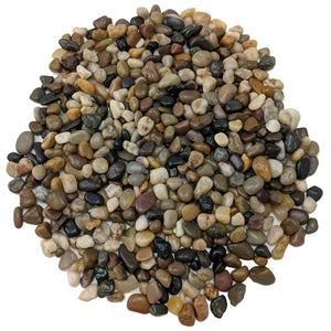 "Decorative Polished Mixed Pebbles 3/8"" Gravel Size (10-lb Bag)"