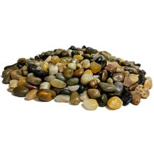 "Load image into Gallery viewer, Decorative Polished Mixed Pebbles 3/8"" Gravel Size (10-lb Bag)"