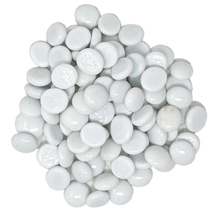 White Fire Pit Glass Beads 1/2-Inch (10-Pounds)