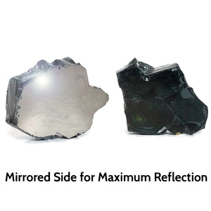 Onyx Black Reflective Fire Pit Glass 1/2-Inch (10-Pounds)
