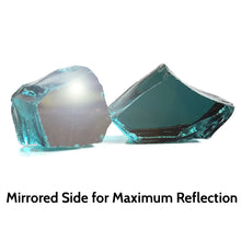 Load image into Gallery viewer, Tropical Blue Reflective Fire Pit Glass 1/2-Inch (10-Pounds)