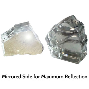 Diamond White Reflective Fire Pit Glass 1/2-Inch (10-Pounds)