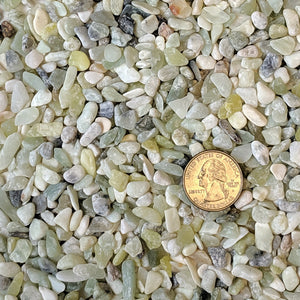 "Natural Decorative Jade Bean Pebbles 1/5"" Size (10-lb Bag)"