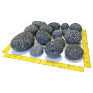 "Tumbled Lava Stones X-Large (3""-5"") 10-lb Bag"