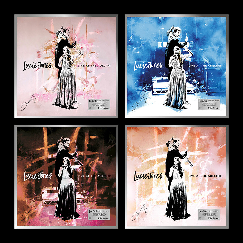 Lucie Jones - Live at the Adelphi   - Limited Edition Personalised, Signed, Framed Art Print. 4 Designs.