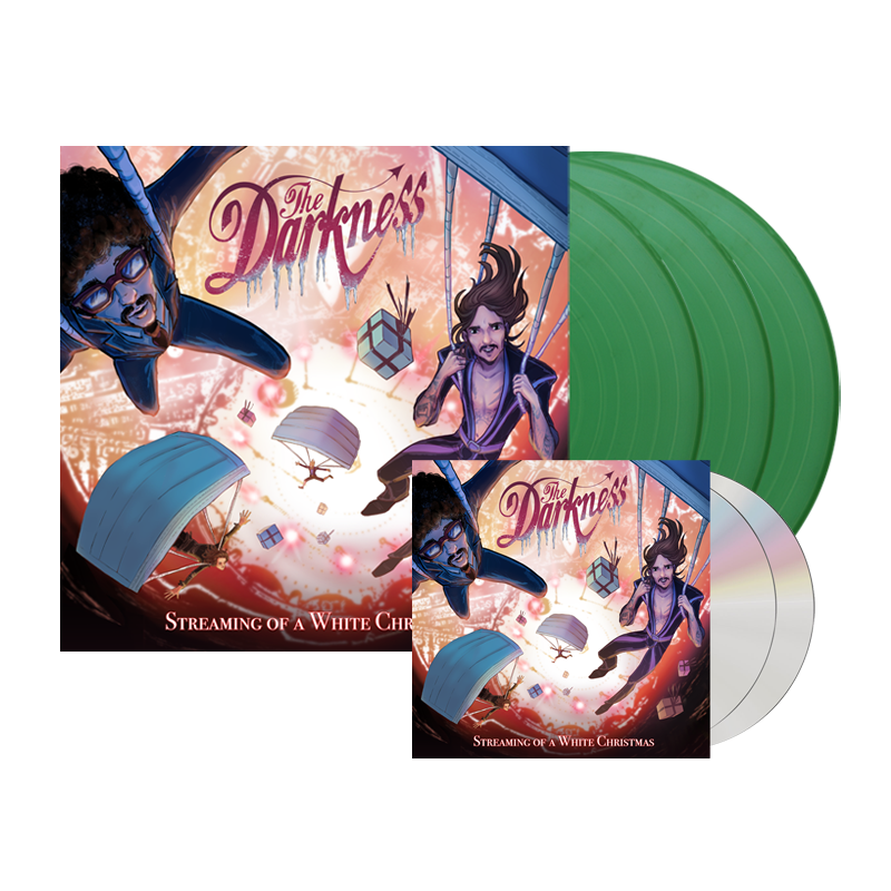 The Darkness - 2CD + Triple Sparkle Green Vinyl Bundle