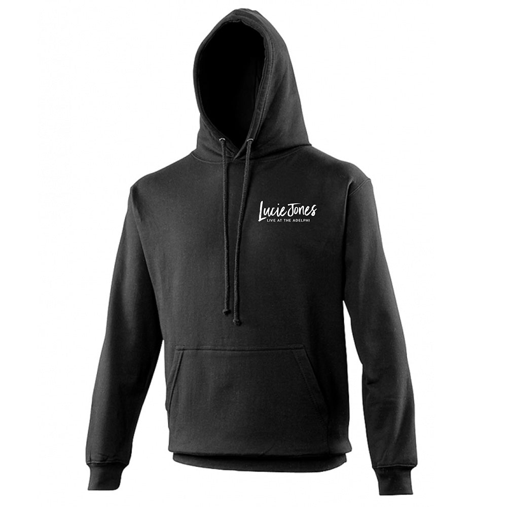 Lucie Jones - Live at the Adelphi   - Black Pullover Hoodie with Embroidered Logo