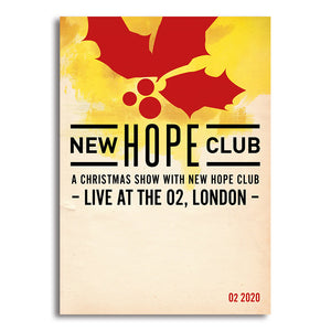New Hope Club - A Christmas Show- SIGNED Art Print - A3