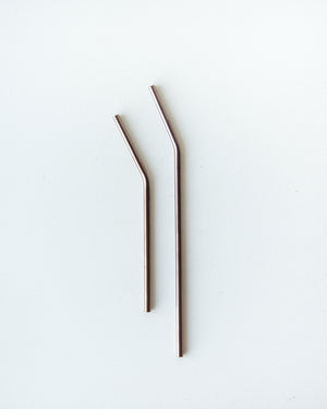 Stainless Steel Straws — Bronze
