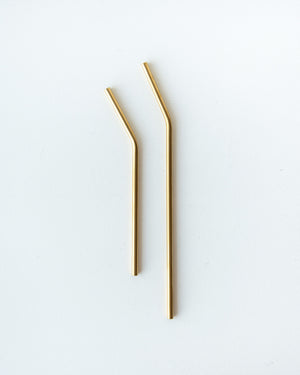 Stainless Steel Straws — Gold