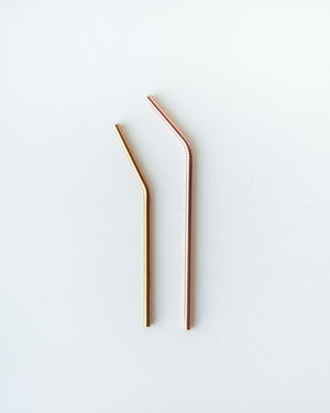 Stainless Steel Straws — Rose Gold