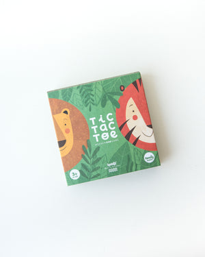 Tic Tac Toe Wooden Game — Lion and Tiger
