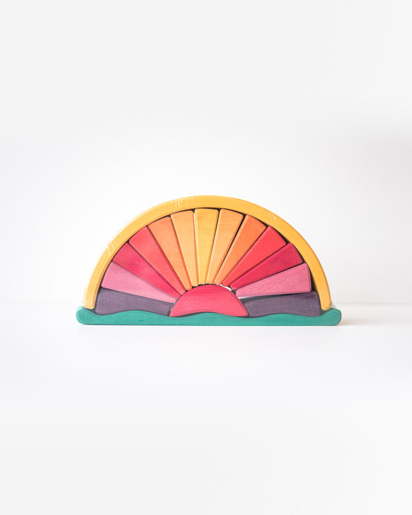 Sun-Ray Arch Wood Stacking Toy