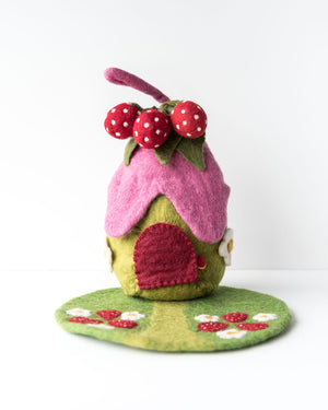 Pure Wool Felt Strawberry House
