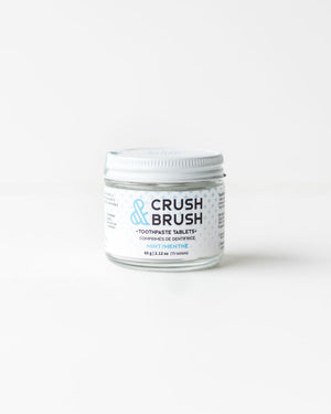 Crush & Brush Toothpaste Tablets — Mint, 2.12oz / 80tablets