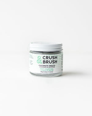 Crush & Brush Toothpaste Tablets — Charcoal + Mint, 2.12oz / 80tablets