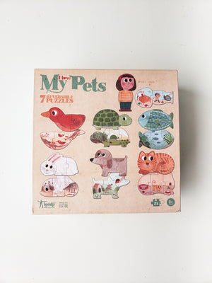 I Love My Pets — Set of 7 Reversible Puzzles