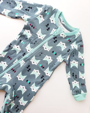 ZippyJamz Organic Pajamas — Quiet Fox