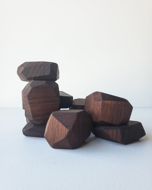 Walnut Stacking Stones — Indie Wood Co